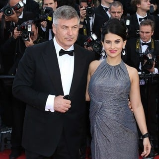 Alec Baldwin, Hilaria Thomas in 66th Cannes Film Festival - Blood Ties Premiere