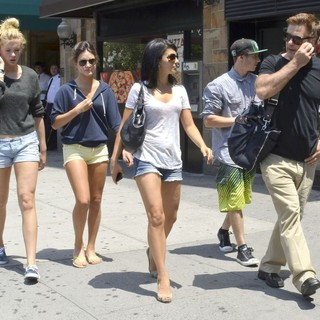 Ireland Baldwin, Hilaria Thomas, Alec Baldwin in Alec Baldwin and His Family Take A Stroll in Downtown Manhattan on The Day After His Wedding