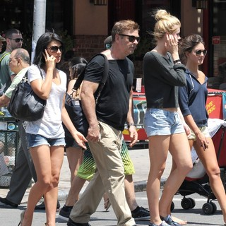 Hilaria Thomas, Alec Baldwin, Ireland Baldwin in Alec Baldwin and His Family Take A Stroll in Downtown Manhattan on The Day After His Wedding