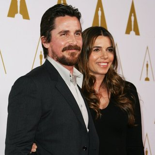 Christian Bale, Sibi Blazic in The 86th Oscars Nominees Luncheon - Arrivals