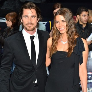 Christian Bale, Sibi Blazic in The European Premiere of The Dark Knight Rises - Arrivals