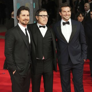 Christian Bale, David O. Russell, Bradley Cooper in EE British Academy Film Awards 2014 - Arrivals