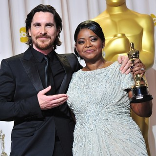 Christian Bale, Octavia Spencer in 84th Annual Academy Awards - Press Room