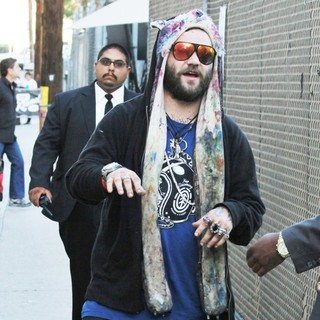 Bam Margera in Celebrities Outside ABC's Jimmy Kimmel Live! Studios
