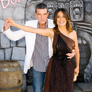 Antonio Banderas, Salma Hayek in The Los Angeles Premiere of Puss in Boots