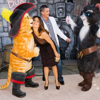 Salma Hayek, Antonio Banderas in The Los Angeles Premiere of Puss in Boots