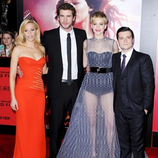 The Hunger Games: Catching Fire Premiere - banks-hemsworth-lawrence-hutcherson-premiere-the-hunger-games-catching-fire-01