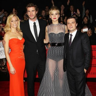 The Hunger Games: Catching Fire Premiere - banks-hemsworth-lawrence-hutcherson-premiere-the-hunger-games-catching-fire-04