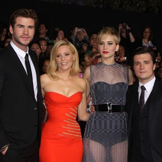 The Hunger Games: Catching Fire Premiere - banks-hemsworth-lawrence-hutcherson-premiere-the-hunger-games-catching-fire-05