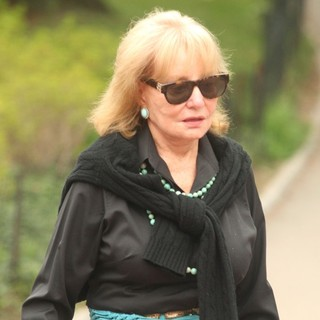 Barbara Walters in Barbara Walters Is Seen Walking with A Friend