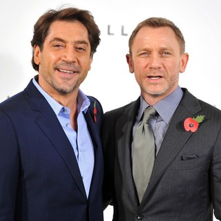 Javier Bardem, Daniel Craig in The 23rd James Bond Movie Photocall