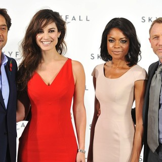 Javier Bardem, Berenice Marlohe, Naomie Harris, Daniel Craig in The 23rd James Bond Movie Photocall