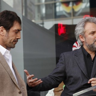 Javier Bardem, Sam Mendes in Javier Bardem Is Honored with A Hollywood Star on The Hollywood Walk of Fame