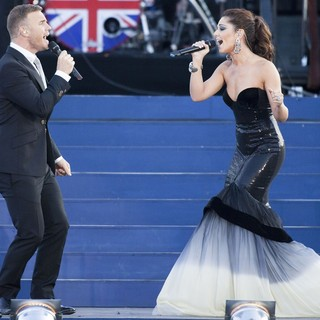 Gary Barlow, Cheryl Cole in The Diamond Jubilee Concert