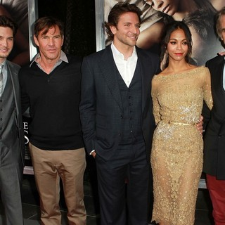 Ben Barnes, Dennis Quaid, Bradley Cooper, Zoe Saldana, Jeremy Irons in The Premiere of CBS Films' The Words - Red Carpet