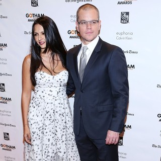 Luciana Barroso, Matt Damon in The Independent Film Project's 22nd Annual Gotham Independenent Film Awards
