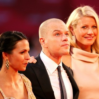 Luciana Barroso, Matt Damon, Gwyneth Paltrow in The 68th Venice Film Festival - Day 4 - Contagion - Premiere- Arrivals