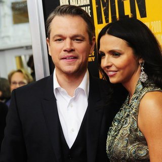 Matt Damon - New York Premiere of The Monuments Men - Inside Arrivals