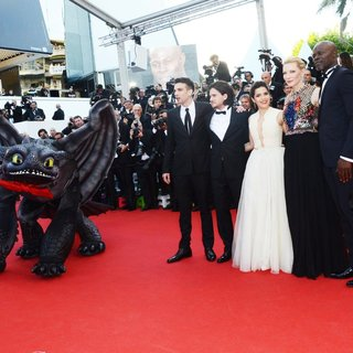 Jay Baruchel, Kit Harington, America Ferrera, Cate Blanchett, Djimon Hounsou in The 67th Annual Cannes Film Festival - How to Train Your Dragon 2 Premiere - Arrivals