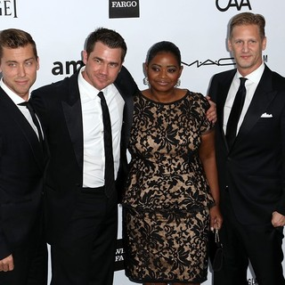 Lance Bass, Tate Taylor, Octavia Spencer in amfAR 3rd Annual Inspiration Gala