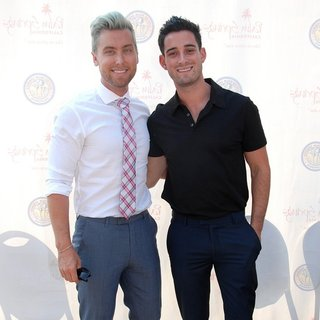 Lance Bass, Michael Turchin in Lisa Vanderpump Is Honored with The 372nd Golden Palm Star on The Palm Springs Walk of Stars