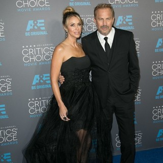 Christine Baumgartner, Kevin Costner in 20th Annual Critics' Choice Movie Awards - Arrivals