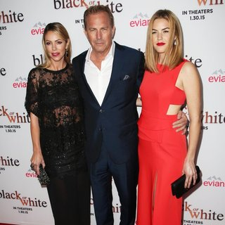 Christine Baumgartner, Kevin Costner, Lily Costner in Los Angeles Premiere of Black or White
