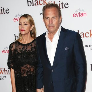 Christine Baumgartner, Kevin Costner in Los Angeles Premiere of Black or White