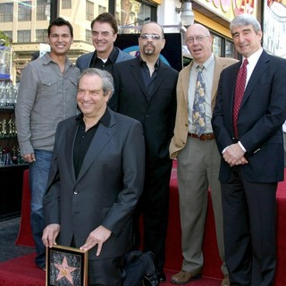 Adam Beach, Chris Noth, Dick Wolf, Ice-T, Dann Florek, Sam Waterston in Dick Wolf Receives A Star on Hollywood Walk of Fame