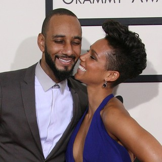Swizz Beatz, Alicia Keys in The 56th Annual GRAMMY Awards - Arrivals