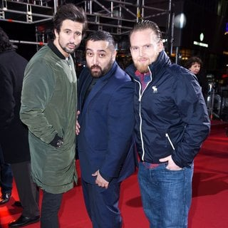 Tom Beck, Kailas Mahadevan, Axel Stein in Zoolander 2 Berlin Screening