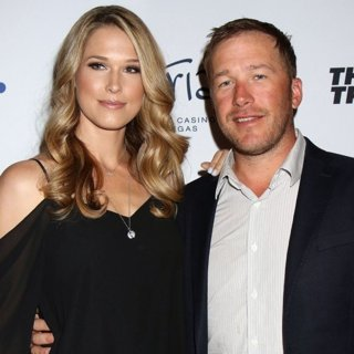 Morgan Beck, Bode Miller in 2017 Derek Jeter Celebrity Invitational Golf Tournament Las Vegas Gala