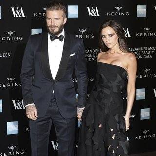David Beckham - Alexander McQueen: Savage Beauty - Private View - Red Carpet Arrivals
