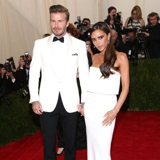 David Beckham, Victoria Adams in Charles James: Beyond Fashion Costume Institute Gala - Arrivals