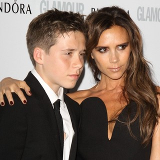 Brooklyn Beckham, Victoria Adams in Glamour Women of The Year Awards 2013