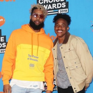 Odell Beckham Jr., Jaylon Smith in Nickelodeon's 2018 Kids' Choice Awards