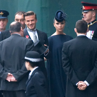 David Beckham, Victoria Adams in The Wedding of Prince William and Catherine Middleton