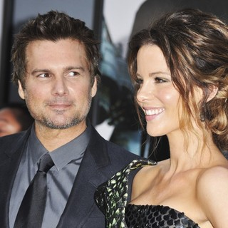 Len Wiseman, Kate Beckinsale in Los Angeles Premiere of Total Recall