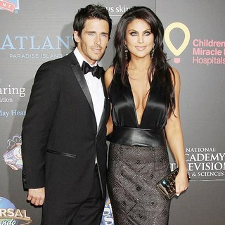 Brandon Beemer, Nadia Bjorlin in 2011 Daytime Emmy Awards - Red Carpet