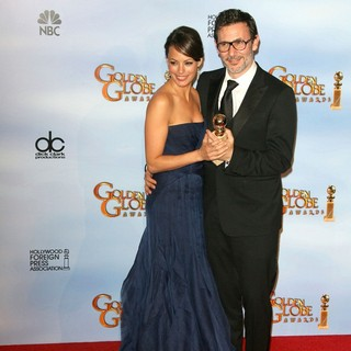 Berenice Bejo, Michel Hazanavicius in The 69th Annual Golden Globe Awards - Press Room