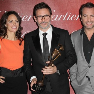 Berenice Bejo, Michel Hazanavicius, Jean Dujardin in The 23rd Annual Palm Springs International Film Festival Awards Gala - Press Room