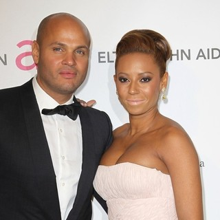 Stephen Belafonte, Melanie Brown in 21st Annual Elton John AIDS Foundation's Oscar Viewing Party