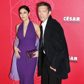 Monica Bellucci, Vincent Cassel in The 34th Cesar Film Awards 2009