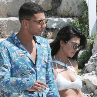 Younes Bendjima, Kourtney Kardashian-70th Annual Cannes Film Festival - Day 8 - Celebrity Sightings