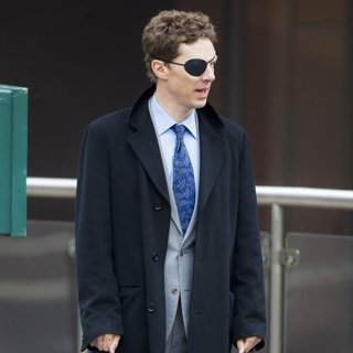 Benedict Cumberbatch in Benedict Cumberbatch Wearing An Eye Patch While Filming Melrose
