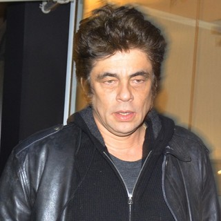 Benicio Del Toro in Benicio Del Toro Leaving Madeo Restaurant