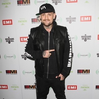 Benji Madden in EMI Music 2012 Grammy Awards Party