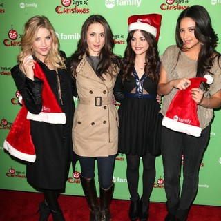 Troian Bellisario in ABC Family's 25 Days of Christmas Winter Wonderland Event - benson-bellisario-hale-mitchell-25-days-christmas-winter-wonderland-01