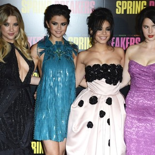 Ashley Benson, Selena Gomez, Vanessa Hudgens, Rachel Korine in Paris Premiere of Spring Breakers - Red Carpet