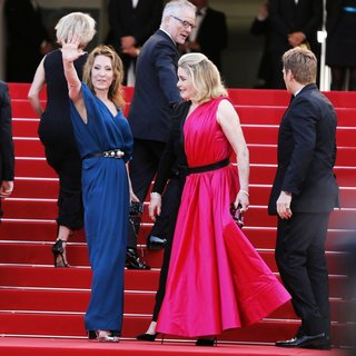 Emmanuelle Bercot, Catherine Deneuve, Benoit Magimel in 68th Annual Cannes Film Festival - Opening Ceremony - Arrivals